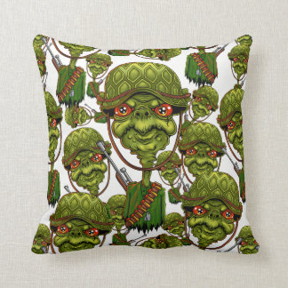 turtle soldier - funny army character cushion