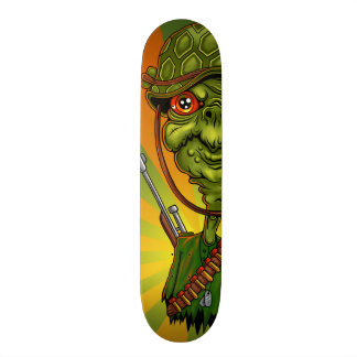turtle soldier - funny army character skateboard decks
