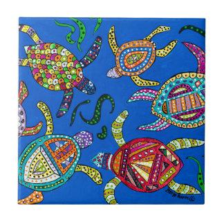 Turtle Time Ceramic Tile