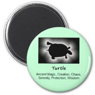 Turtle Totem Animal Spirit Meaning 6 Cm Round Magnet