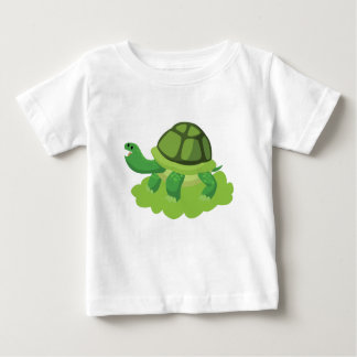 turtle walking in the grass baby T-Shirt