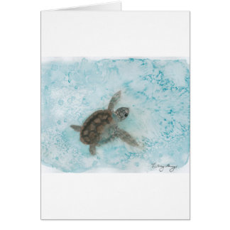 Turtle Watercolor Painting Greeting Card