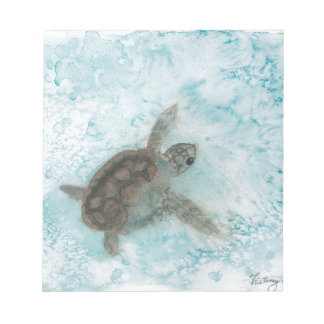 Turtle Watercolor Painting Scratch Pad