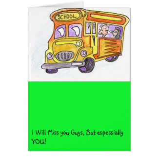 Turtle will miss you greeting card