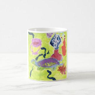 Turtle with a cup of tea mug