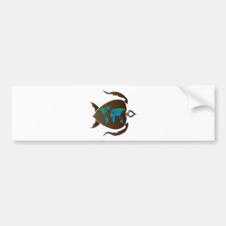 Turtle-world Bumper Sticker