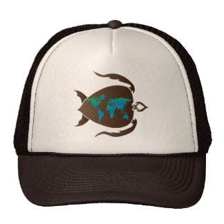 Turtle-world Trucker Hat