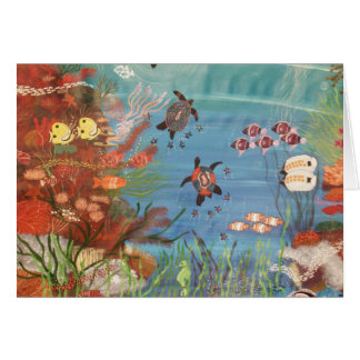 Turtles amongst the Coral Card
