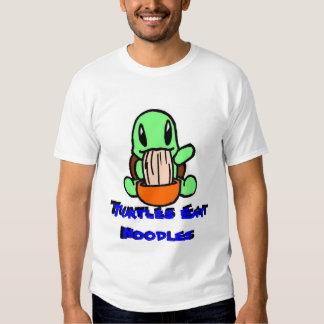 Turtles Eat Noodles Tees