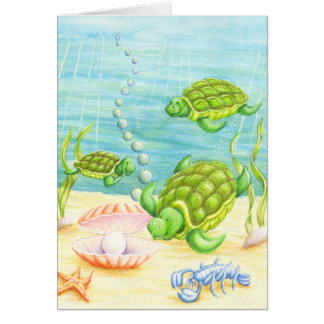 Turtles Find a Pearl Card