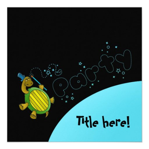 Turtle's Magic - Party Invitation