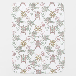 Turtles & Snails Doodlely 1 - Baby Blanket