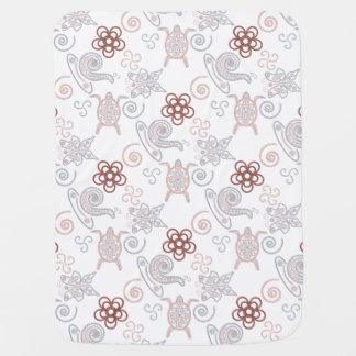 Turtles & Snails Doodlely 2 - Baby Blanket