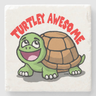 Turtley Awesome Stone Coaster