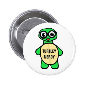 Turtley Nerdy 2 Inch Round Button