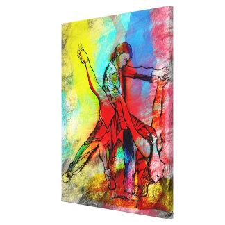Tus Labios de Rubi - Your Ruby Lips Tango Canvas Print