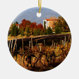 Tuscan Countryside Ceramic Ornament