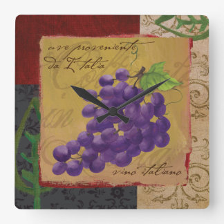 Tuscan Grapes Wall Clock