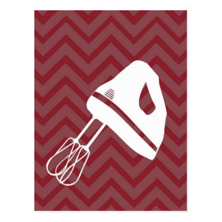 tuscan kitchen - hand mixer on chevron postcard
