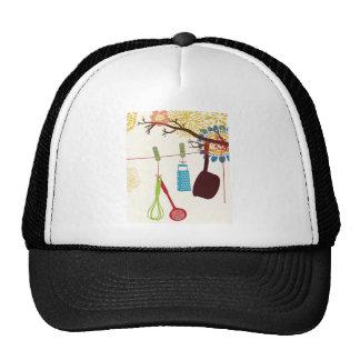 Tuscan Kitchen - Utensils on floral. Trucker Hat