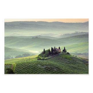 Tuscan morning photo print