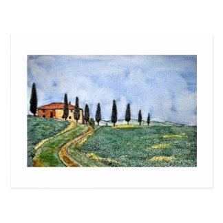 Tuscan Path Post Cards
