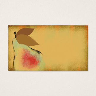 Tuscan pear cooking culinary business card
