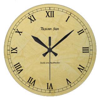 Tuscan Sun Faux Finish 2.0 Large Clock