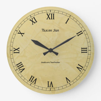 Tuscan Sun Faux Finish 2.0 Wallclocks