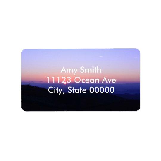 Tuscan Sunset Address Label