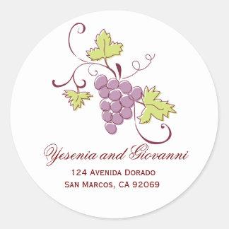 Tuscan Wedding Address Labels Round Sticker