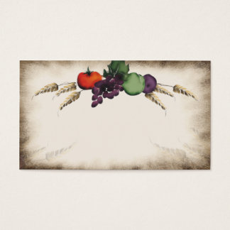 Tuscan wheat fruit cooking business card