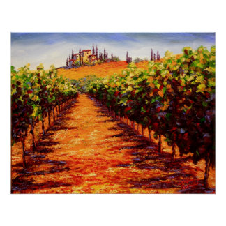 Tuscan Wine Vineyard Poster
