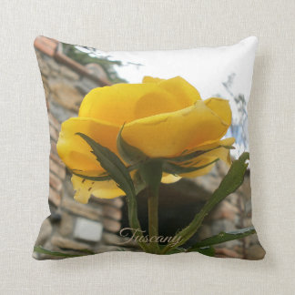 Tuscan yellow rose. cushion