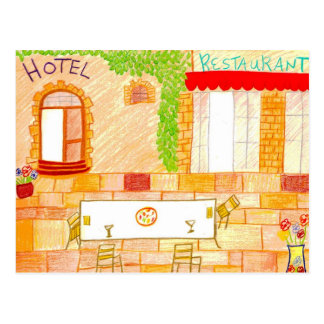 Tuscany  Cafe Postcard