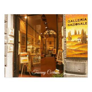 Tuscany Cortona.Art Gallery. Postcard