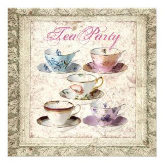 Tuscany Country Bridal Shower Tea Party Invitation