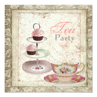 Tuscany Country Bridal Shower Tea Party Invitation