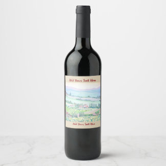 Tuscany Countryside,  Bottle Label