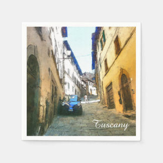 Tuscany. Italy. Cortona. Disposable Napkin