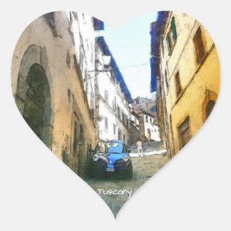 Tuscany. Italy. Cortona. Heart Sticker