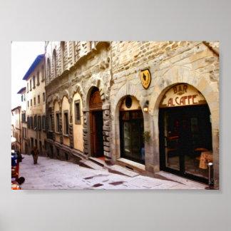 Tuscany. Italy. Cortona. Poster