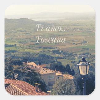 Tuscany. Italy. Cortona. Square Sticker
