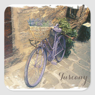 Tuscany, Italy. Illustration Square Sticker