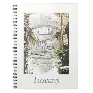 Tuscany, Italy. Illustration.text. Spiral Notebook