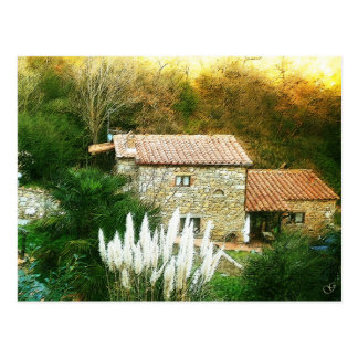 Tuscany, Italy. Rustic house. Postcard