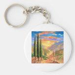 Tuscany Landscape Painting - Multi Key Chain