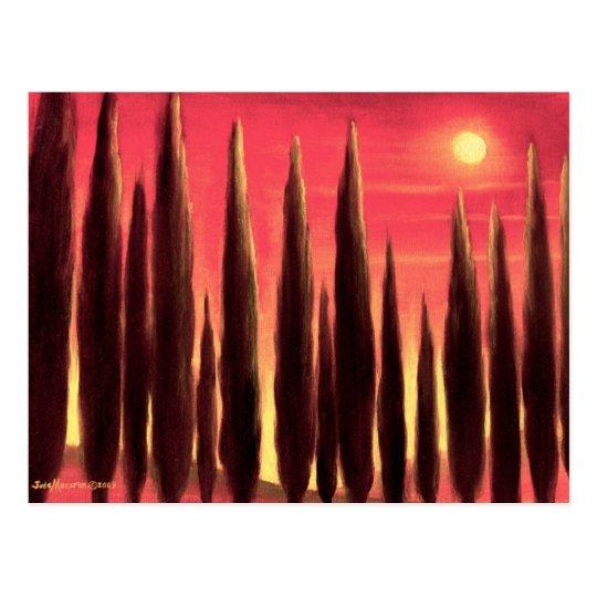 Tuscany Landscape Painting - Multi Postcard