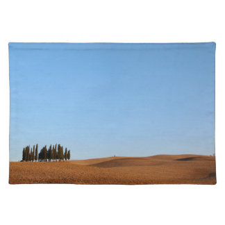 Tuscany landscape with cypress trees placemat
