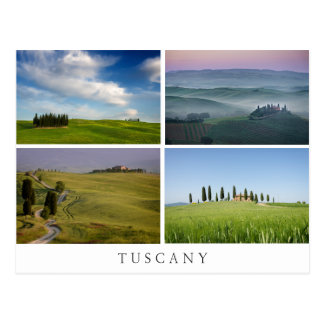 Tuscany landscapes collage postcard